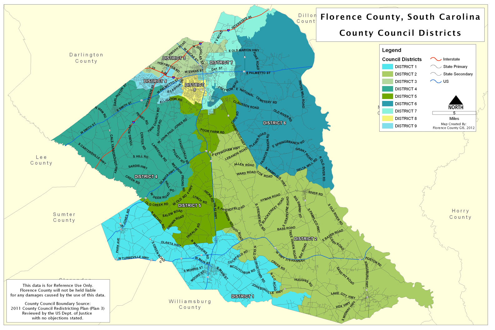 Florence Al Zip Code Map.Gis Offices County Of Florence